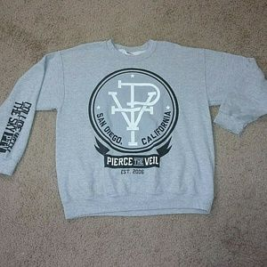 Pierce the Veil Sweatshirt San Diego CA Gray L